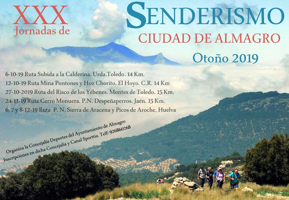 La Concejalía de Deportes presenta las XXX Jornadas de Senderismo Otoño 2019