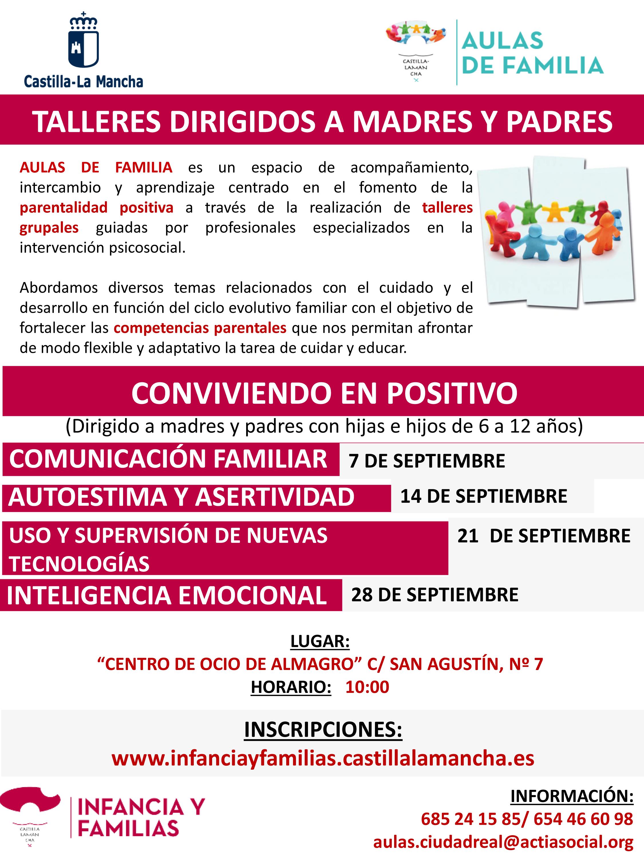 El Ayuntamiento organiza talleres dirigidos a madres y padres
