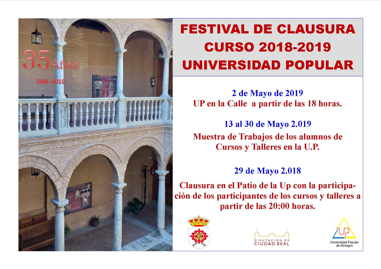 Festival de clausura curso 2018-2019