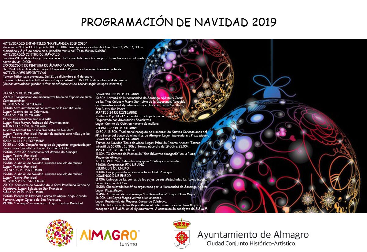 PROGRAMACIÓN NAVIDAD 2019