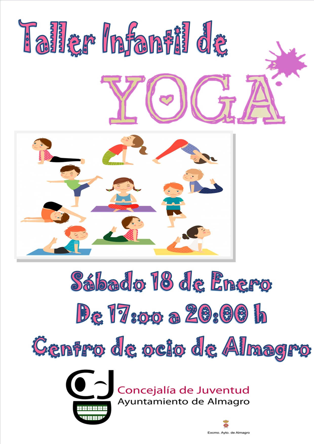 Taller de yoga infantil. Actividad infantil gratuita