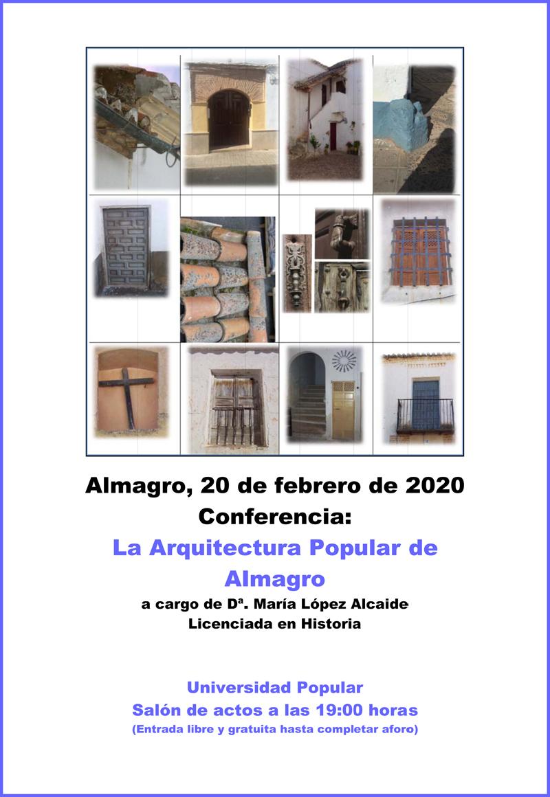 Charla sobre la arquitectura popular de Almagro en la UP