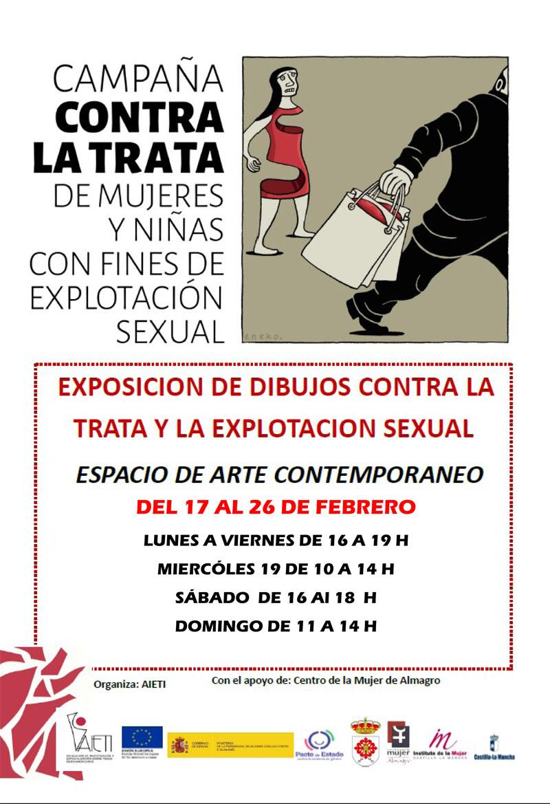 Exposición de dibujos sobre la trata y la explotación sexual