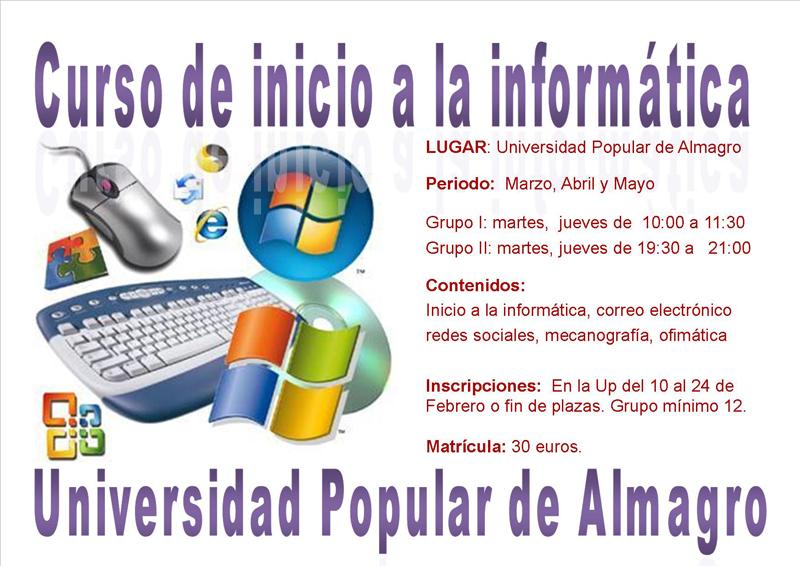 Curso de iniciación a la informática de la Universidad Popular