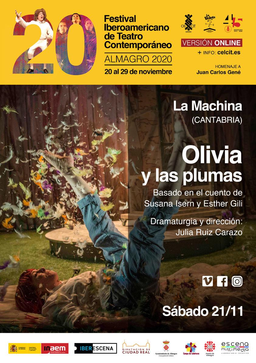 20 Festival Iberoamericano de Teatro Contemporáneo. Teatro familiar. Olivia y las plumas.