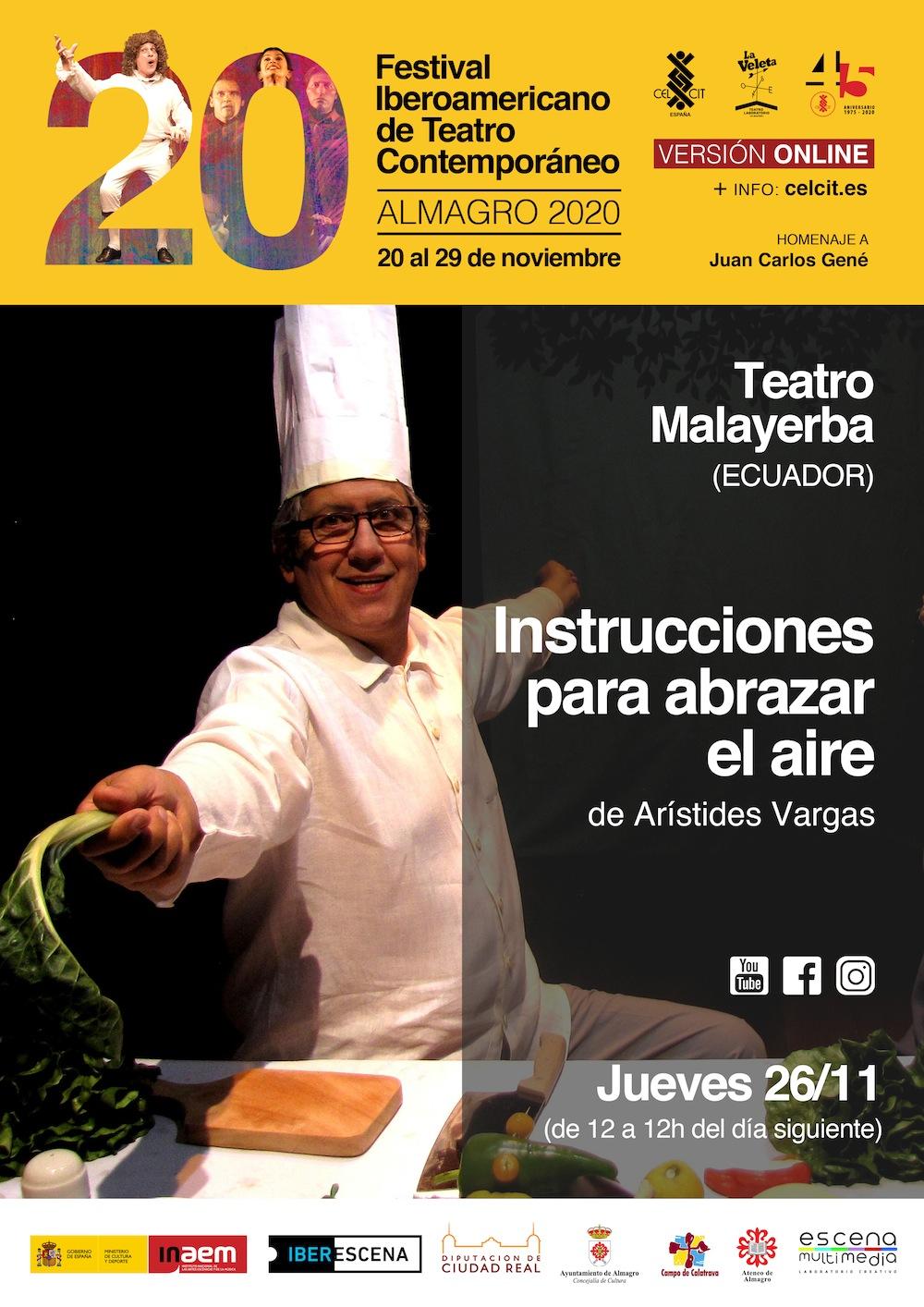 20 Festival Iberoamericano de Teatro Contemporáneo. Instrucciones para abrazar el aire.