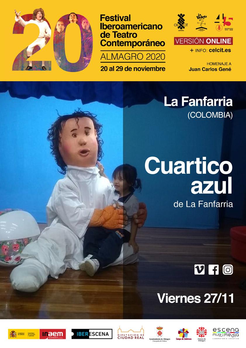 20 Festival Iberoamericano de Teatro Contemporáneo Cuartico azul.