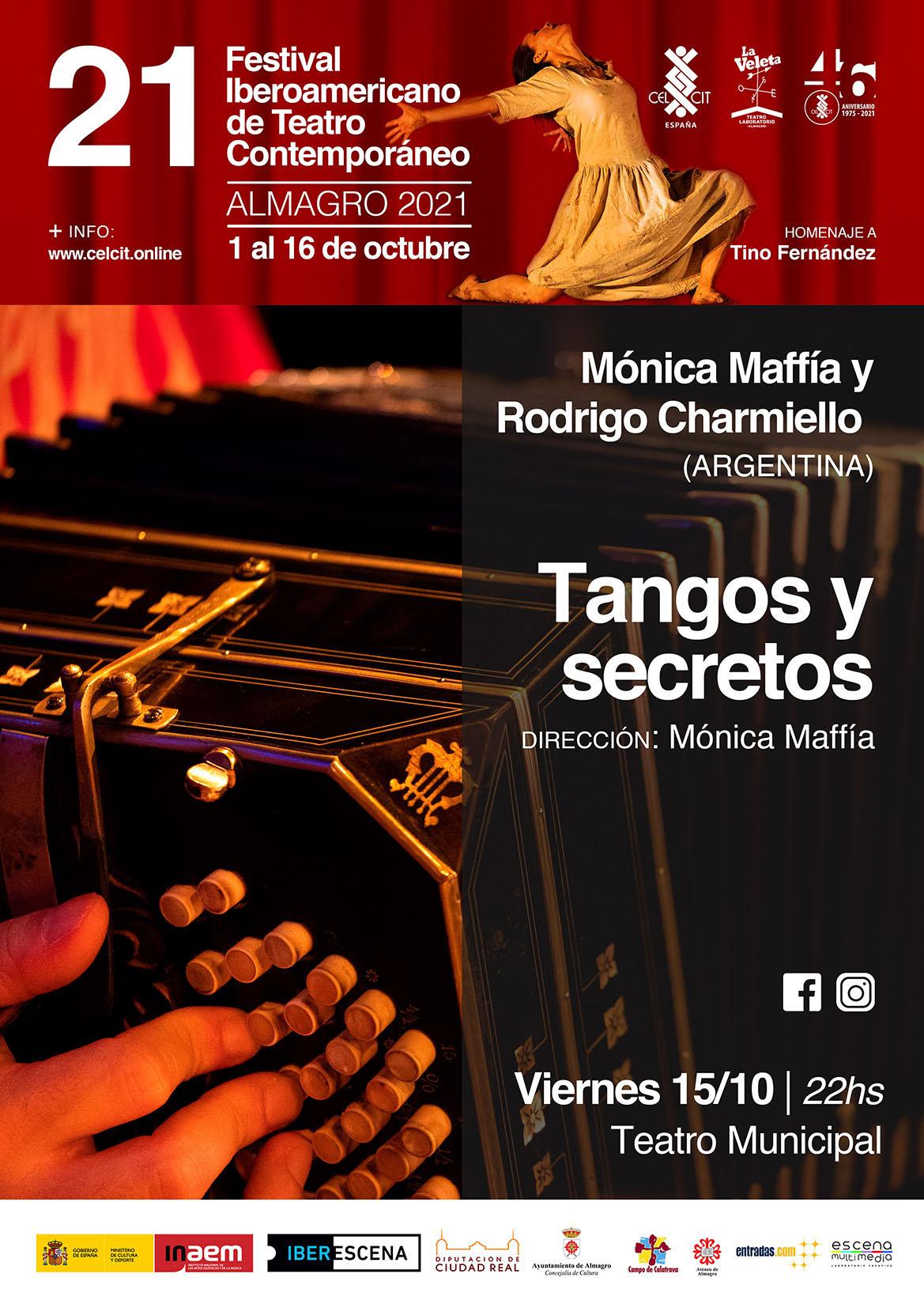 21 Festival Iberoamericano de Teatro Contemporáneo. Tangos y secretos (Argentina)