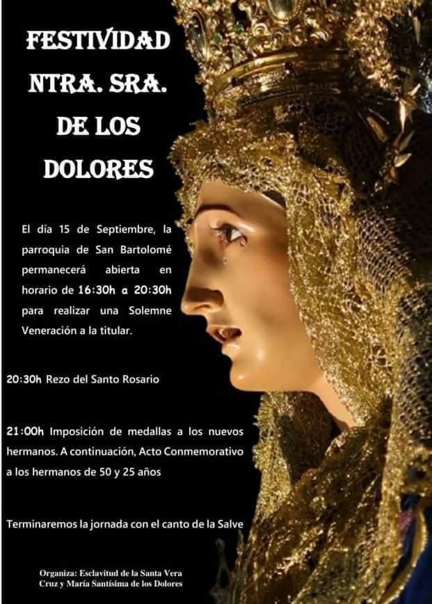 Festividad Virgen de Dolores