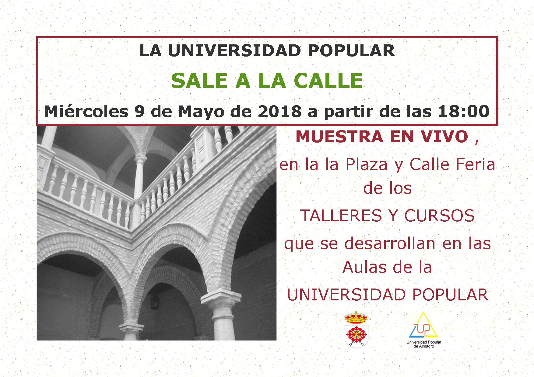 cartel up en la calle mayo 2018