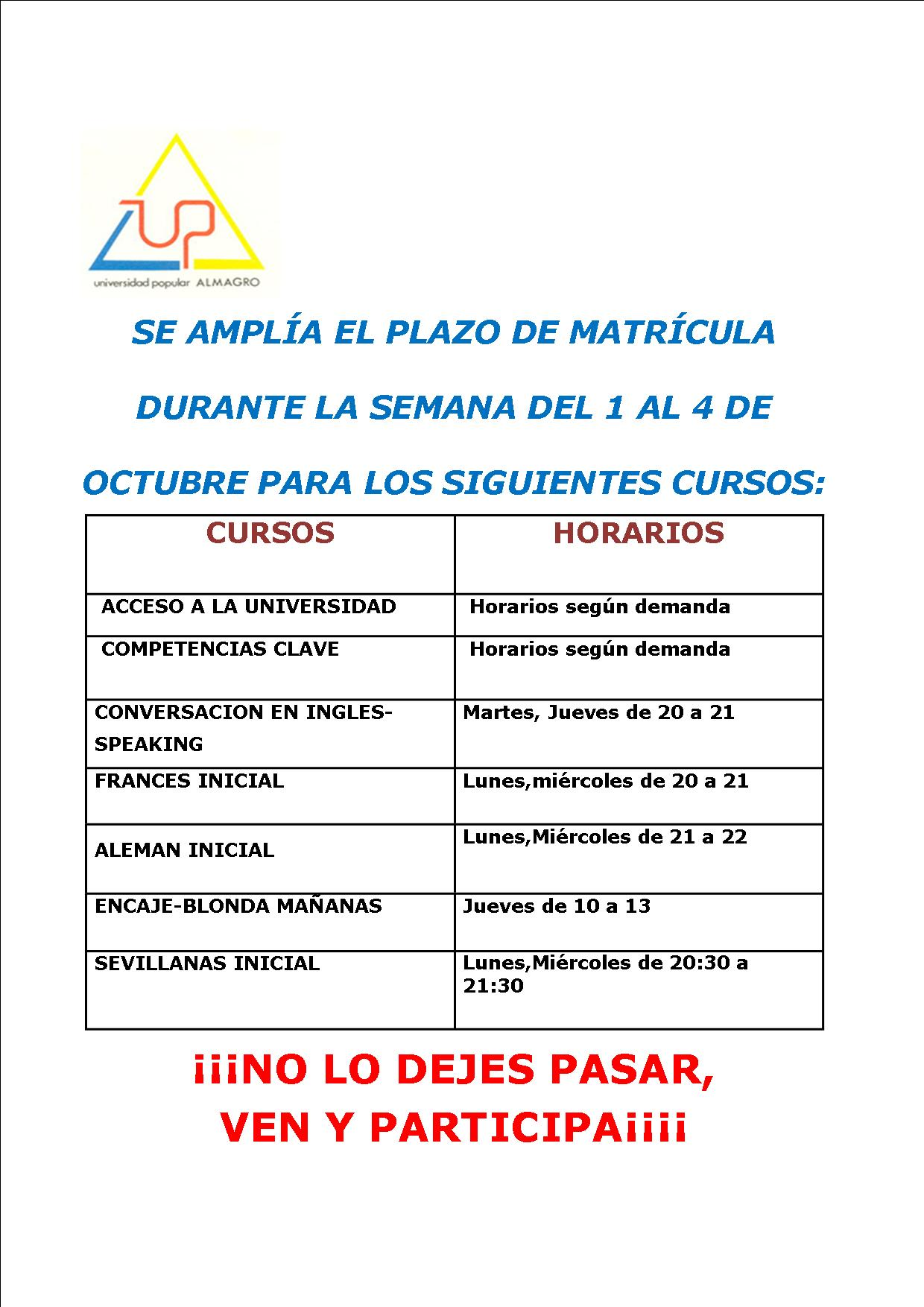 Universidad Popular de Almagro